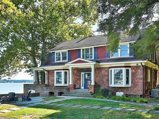 A home on the market at 1 Washington Avenue, South Nyack, is owned by Rosie O'Donnell.