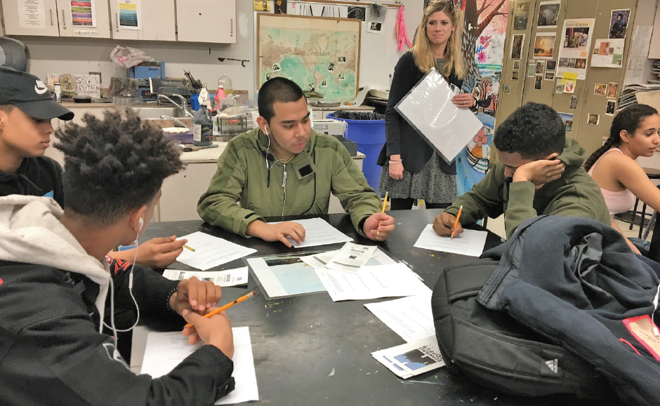 Sleepy Hollow high school students take part in arts education program at Hopper House.