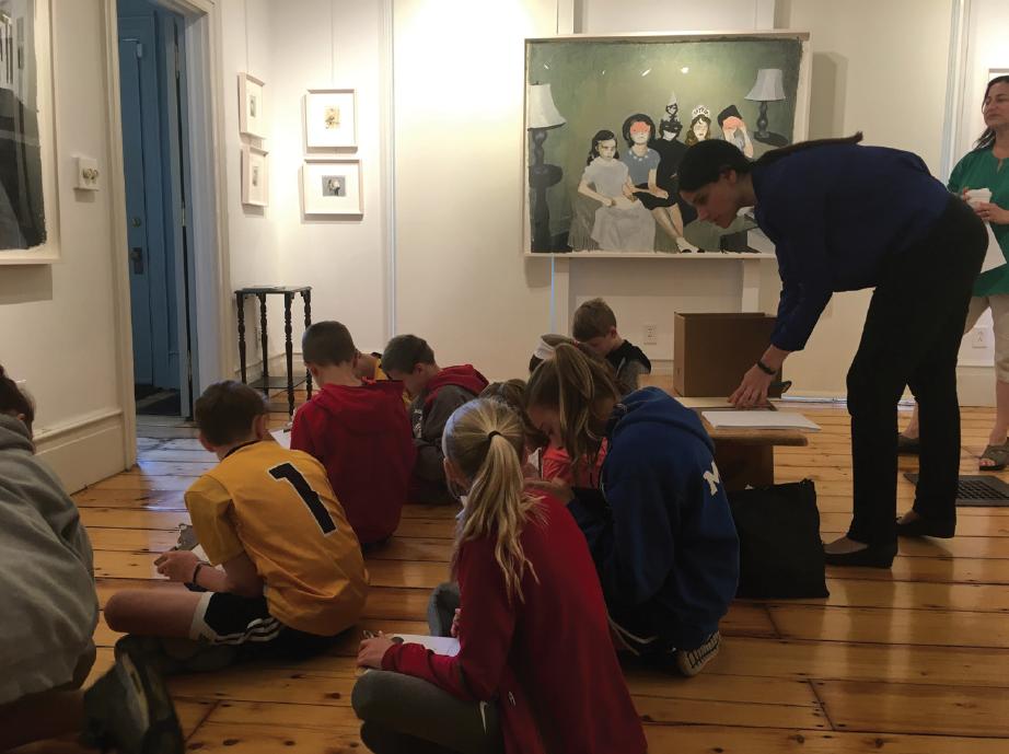 Strawtown elementary school students take part in Hopper House art program.
