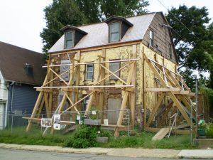 John Green House Under Restoration