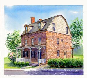 Rendering of Restored John Green House in Nyack