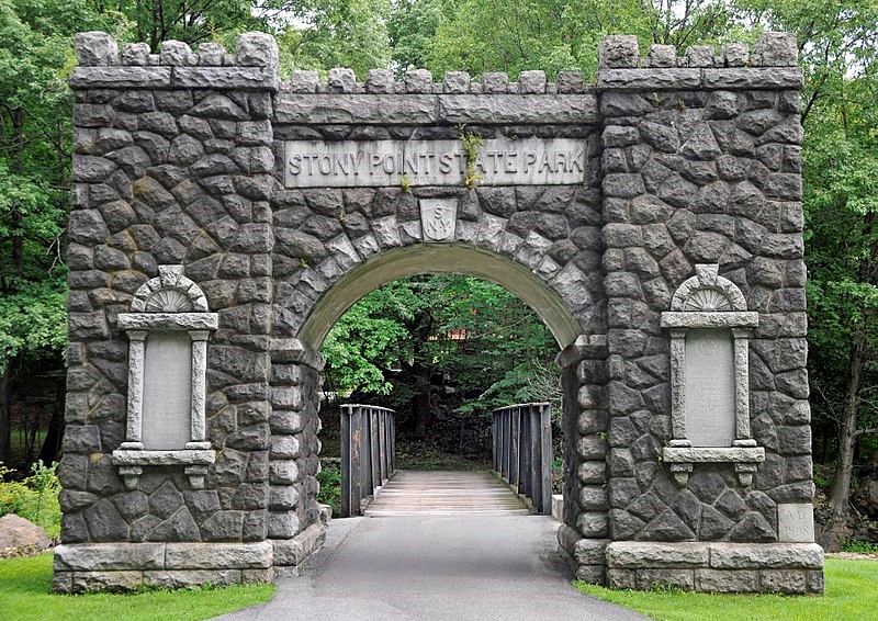 Entrance to Stony Point Battlefield and Lighthouse, Stony Point, New York