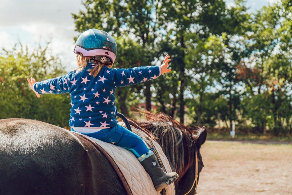 Young girl on a horse at Juckas Stables, Pine Bush, New York