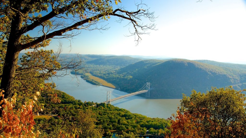 view of Hudson River from Bear Mountain State Park