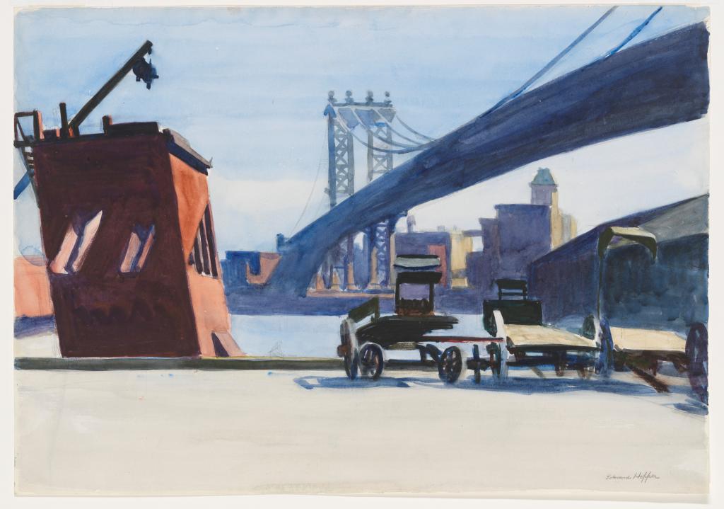 paining of Manhattan Bridge