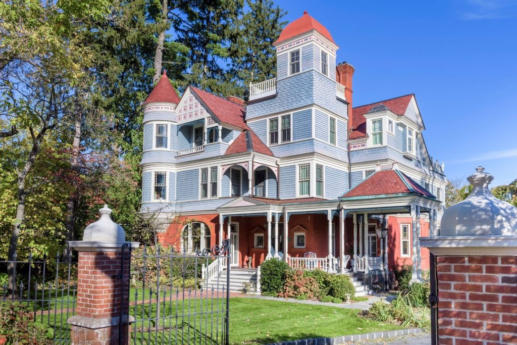 The Bennett-Deyrup House, an extraordinary 1887 Queen Anne Victorian on the Hudson River