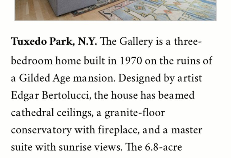 The Gallery listing in Tuxedo Park featured in the THE WEEK magazine