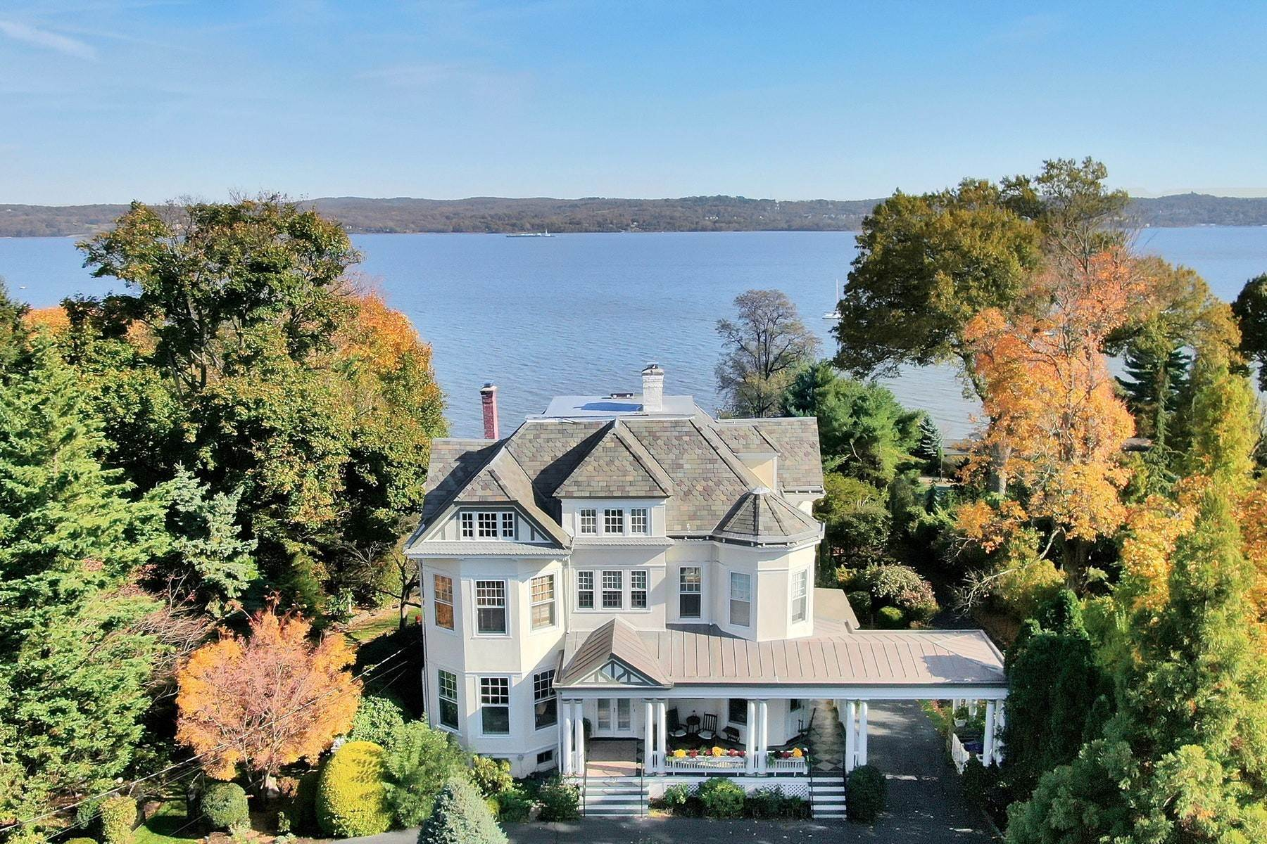 Single Family Homes for Sale at Picturesque Riverfront Home 251 N Broadway Nyack, New York 10960 United States