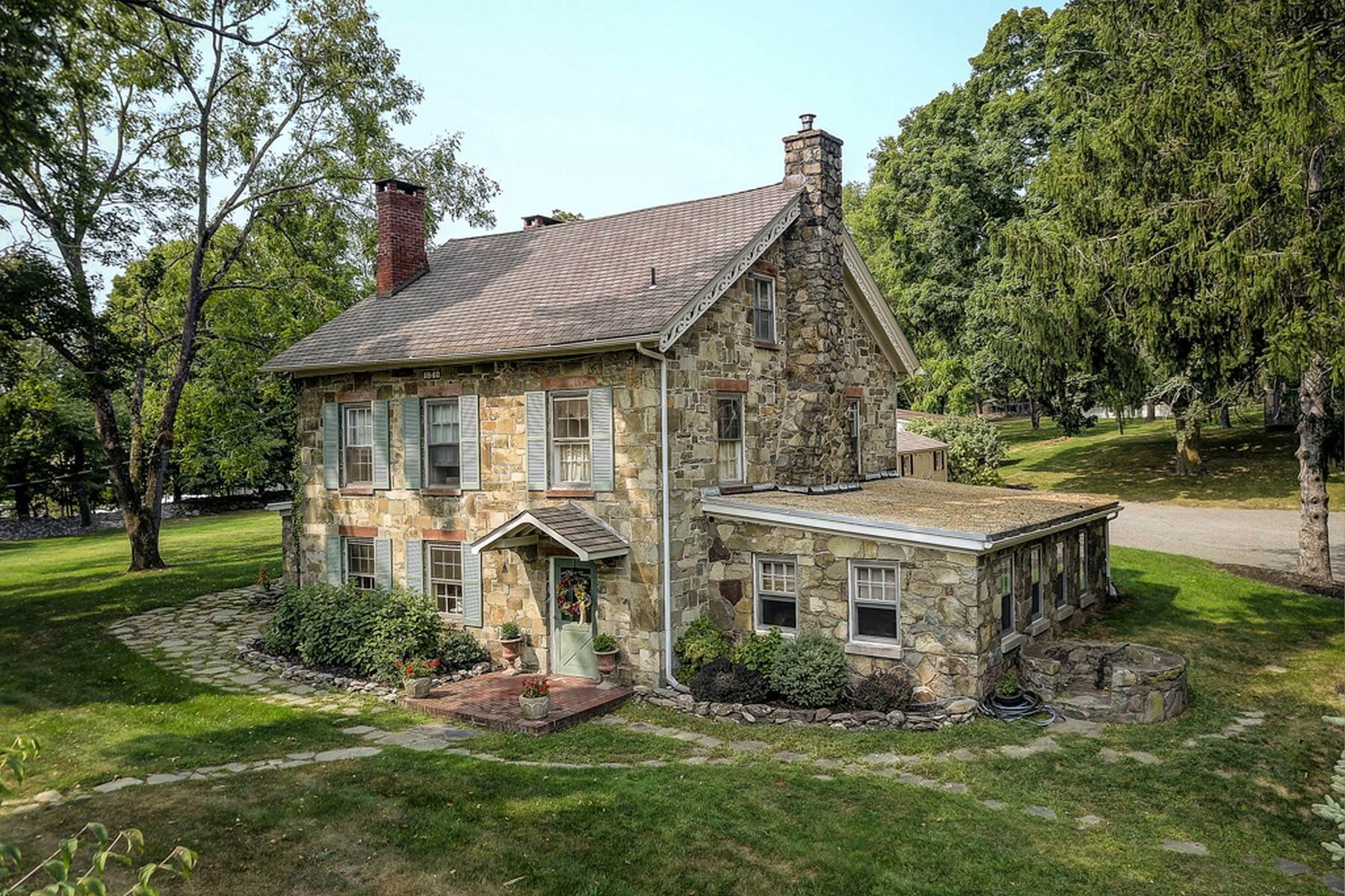 2. Single Family Homes for Sale at c. 1842 Second Empire Stone House 473 Orrs Mills Road Cornwall, New York 12553 United States