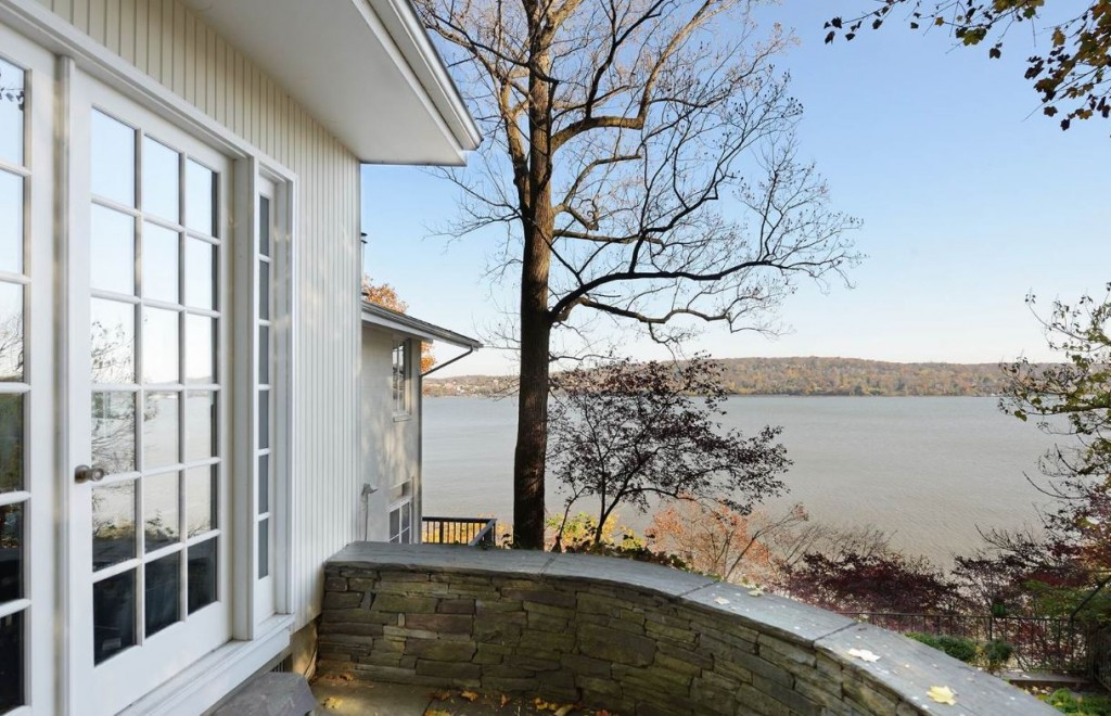 Cliff House is a romantic and private Hudson Riverfront home in Snedens Landing, currently on the market for $2.495 million